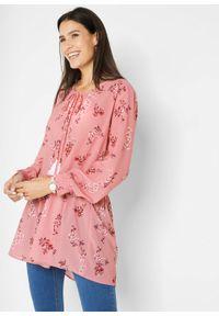 Różowa tunika bonprix retro, w kwiaty #6