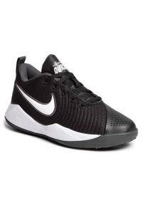 Nike - Buty NIKE - Team Hustle Quick 2 (Gs) AT5298 002 Black/White/Anthracite/Volt. Okazja: na uczelnię, na spacer, na co dzień. Kolor: czarny. Materiał: skóra, materiał. Szerokość cholewki: normalna. Styl: casual