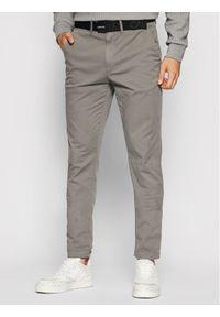 Calvin Klein Chinosy Garment Dye K10K107785 Szary Slim Fit. Kolor: szary