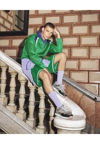 HOFF - Sneakersy z kontrastowymi wstawkami Qubec. Kolor: szary. Materiał: zamsz. Wzór: nadruk