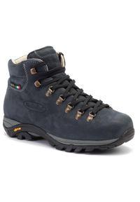 Niebieskie buty trekkingowe Zamberlan z cholewką, Gore-Tex