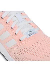 Różowe półbuty Adidas z cholewką, na co dzień