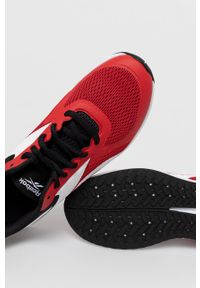 Czerwone buty sportowe Reebok z cholewką, na sznurówki