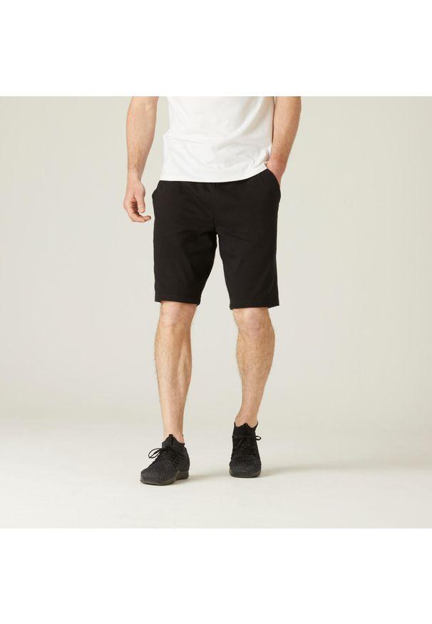 NYAMBA - Spodenki fitness. Kolor: czarny. Materiał: poliester, bawełna, materiał. Sport: fitness
