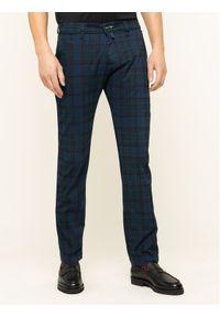 Pierre Cardin Spodnie materiałowe 30035/000/4554 Granatowy Modern Fit. Kolor: niebieski. Materiał: elastan, materiał, bawełna