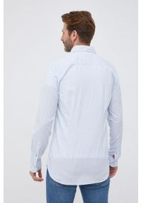 TOMMY HILFIGER - Tommy Hilfiger - Koszula bawełniana. Typ kołnierza: button down. Kolor: niebieski. Materiał: bawełna. Długość rękawa: długi rękaw. Długość: długie