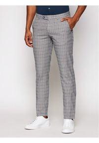Bugatti Spodnie materiałowe 4890 76359 Szary Modern Fit. Kolor: szary. Materiał: materiał