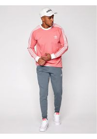 Adidas - adidas Spodnie dresowe GN3529 Zielony Fitted Fit. Kolor: zielony. Materiał: dresówka