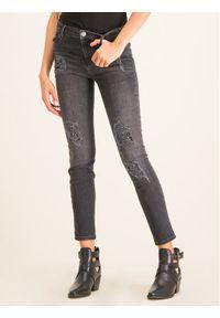 Czarne jeansy slim My Twin