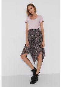 Mos Mosh - T-shirt bawełniany. Okazja: na co dzień. Kolor: różowy. Materiał: bawełna. Wzór: gładki. Styl: casual