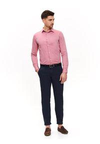 Różowa koszula TOP SECRET z krótkim rękawem, elegancka