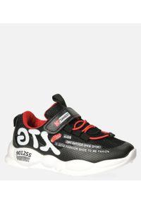 Casu - Czarne buty sportowe na rzep casu 204/8m. Zapięcie: rzepy. Kolor: czarny
