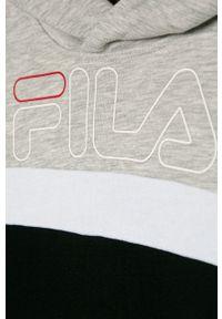 Czarna bluza Fila na co dzień, z kapturem, z nadrukiem, casualowa