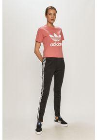 Czarna bluza rozpinana adidas Originals casualowa, gładkie, na plażę
