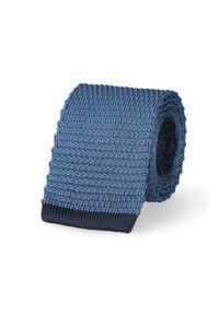 Lancerto - Krawat Niebieski. Okazja: na co dzień. Kolor: niebieski. Materiał: dzianina, materiał, poliester. Styl: sportowy, casual