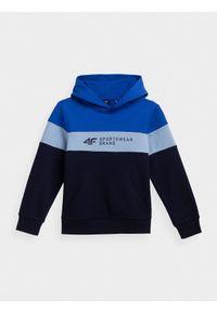 Niebieska bluza 4f na co dzień, z kapturem, casualowa