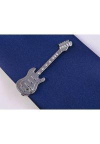 Adam Collection - Grafitowa spinka do krawata - gitara elektryczna ZS16. Kolor: szary