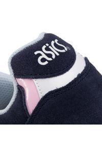 Niebieskie buty sportowe Asics na co dzień, z cholewką