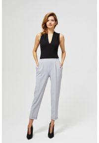 MOODO - Luźne spodnie na kant. Okazja: na co dzień. Materiał: elastan, wiskoza, poliester. Wzór: gładki. Styl: casual