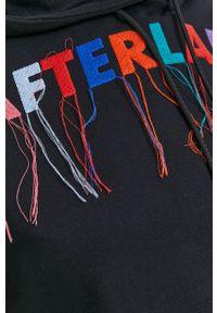 After Label - Bluza bawełniana. Kolor: czarny. Materiał: bawełna. Długość rękawa: długi rękaw. Długość: długie. Wzór: haft