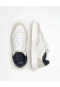 HOFF - Białe sneakersy Thames. Okazja: na co dzień. Kolor: biały. Materiał: guma, materiał. Wzór: nadruk