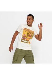 House - Koszulka z nadrukiem Chilaxing - Kremowy. Kolor: kremowy. Wzór: nadruk