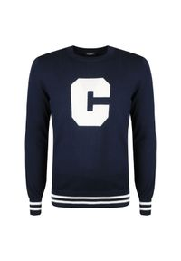 Sweter Calvin Klein z okrągłym kołnierzem
