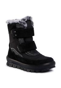 Czarne śniegowce Superfit na spacer