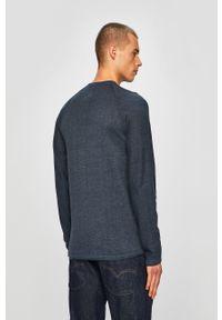 Niebieski sweter Blend casualowy, raglanowy rękaw, na co dzień