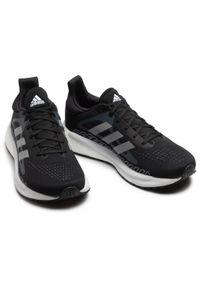Adidas - Buty adidas - Solar Glide 3 M FW0990 Cblack/Bluoxi/Dshgry. Kolor: czarny. Materiał: materiał. Szerokość cholewki: normalna
