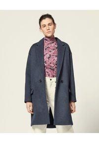 ISABEL MARANT - Wełniany płaszcz oversize Filippo. Kolor: szary. Materiał: wełna. Długość rękawa: długi rękaw. Długość: długie. Styl: sportowy