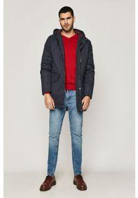 Czerwony sweter medicine casualowy, na co dzień, z długim rękawem, długi