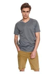 TOP SECRET - T-shirt techniczny active. Kolor: szary. Materiał: tkanina. Długość rękawa: krótki rękaw. Długość: krótkie. Sezon: wiosna, lato. Styl: klasyczny