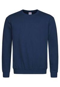 Niebieski sweter Stedman klasyczny, bez kaptura