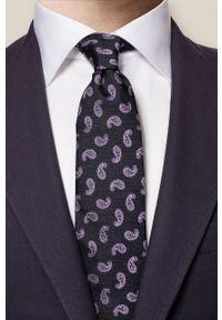 Eton - ETON - Krawat. Kolor: fioletowy