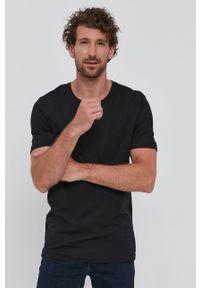 TIGER OF SWEDEN - Tiger Of Sweden - T-shirt. Okazja: na co dzień. Kolor: czarny. Materiał: dzianina. Wzór: gładki. Styl: casual