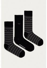 Emporio Armani Underwear - Emporio Armani - Skarpetki (3-pack). Kolor: czarny