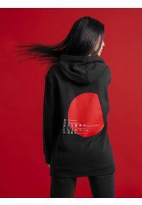 4f - Bluza damska z kolekcji FROM PAST TO FUTURE. Kolor: czarny. Materiał: dzianina. Wzór: nadruk. Styl: sportowy