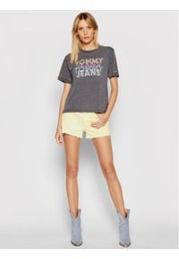 Tommy Jeans T-Shirt Multi DW0DW10205 Szary Relaxed Fit. Kolor: szary