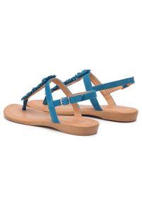 Niebieskie sandały Via Ravia na co dzień, casualowe
