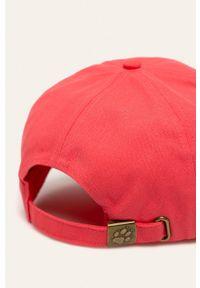 Czerwona czapka z daszkiem Jack Wolfskin gładkie