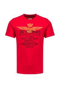 Aeronautica Militare - T-shirt AERONAUTICA MILITARE. Materiał: bawełna, prążkowany. Długość rękawa: krótki rękaw. Długość: krótkie. Wzór: nadruk. Styl: klasyczny