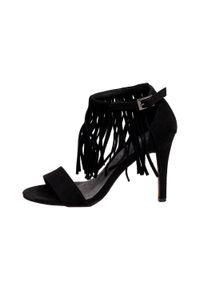 Czarne sandały S.Barski klasyczne