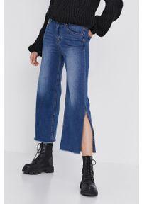 Niebieskie jeansy loose fit Answear Lab z podwyższonym stanem, wakacyjne