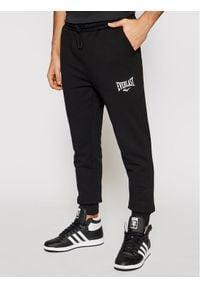 EVERLAST Spodnie dresowe 810540-60 Czarny Regular Fit. Kolor: czarny. Materiał: dresówka
