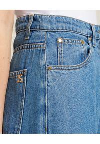 Luisa Spagnoli - LUISA SPAGNOLI - Szerokie spodnie jeansowe Assaggio. Kolor: niebieski