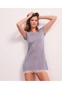 Morska piżama Etam krótka, w koronkowe wzory