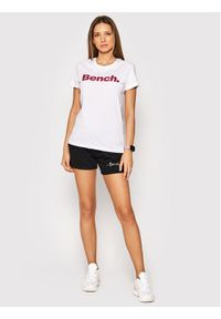 Bench T-Shirt Leora 117360 Biały Regular Fit. Kolor: biały