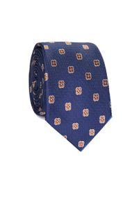 Niebieski krawat Giacomo Conti w kwiaty