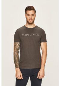 Szary t-shirt Marc O'Polo z nadrukiem, na co dzień